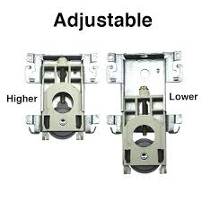 bottom roller assembly w tabs mirror wardrobe sliding closet door hardware cabinet track menards
