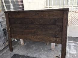 diy project rustic wood headboard easy build under 40 with only sander and driver