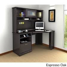 corner office desk with hutch. Bush Furniture Cabot Collection Corner Desk With Hutch Office