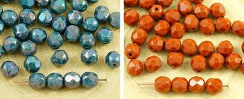 40pcs opaque round faceted fire polished spacer czech glass beads 6mm for 3 11 from czech beads