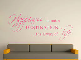happiness is not a destination decorative wall art sticker 3 sizes