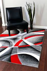 white rug 5x7 com gray black red white swirls 7 x 6 modern intended for