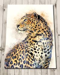 leopard print wall art african animal