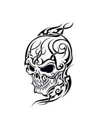 Lebka 2 Tribal Nalepovací Tetování