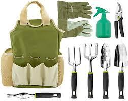 Vremi <b>9 Piece Garden</b> Tools Set - Gardening Tools with Garden ...