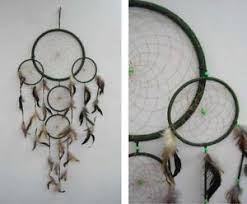 Huge Dream Catchers 100 INCH ROUND GREEN FIVE RING HUGE DREAM CATCHER large western 49