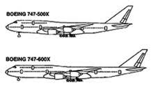 boeing 747 aircraft comparison diagram