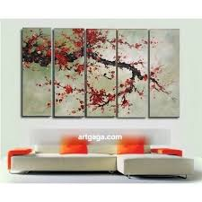 cherry blossom red oil paintings on canvas home decoration modern abstract oil painting wall art natural