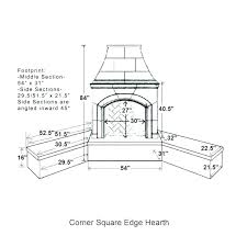 standard fireplace size hearth