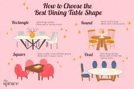 dining table shapes which one is right