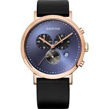 bering ladies gents designer watches lizzi gifts bering uk bering men s black calfskin watch