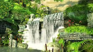 3d Tapete des Wasserfalls - Natur 3d ...