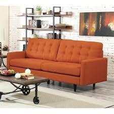 mid century modern futon coaster sofa in orange frame t20