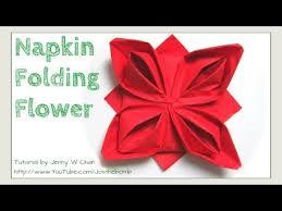 Paper Napkin Folding Flower Christmas Table Setting How To Fold A Rose Flower Napkin Folding For Restaurant Table Setting