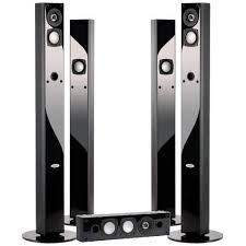 home theater tower speakers. crystal acoustics bpt home theatre set of speakers- 4 towers speakers and 1 center speaker -\u2026 theater tower