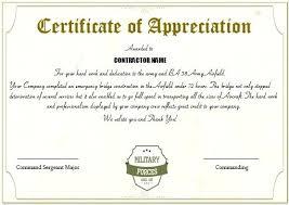 Certification Of Appreciation Template Atlasapp Co
