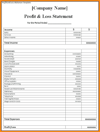 profit and loss excel spreadsheet profit and loss template excel profit loss statement in excel excel