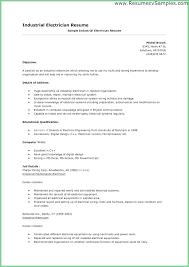 Electrician Skills Resume Letsdeliver Co