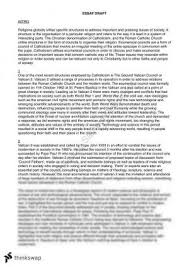 pope john xxiii essay year hsc studies of religion i  the second vatican council essay structures and processes of a religion