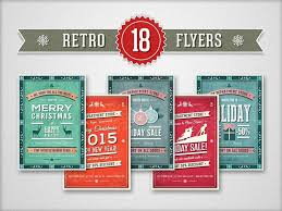cool christmas designs for your holiday project 18 retro christmas flyers collection
