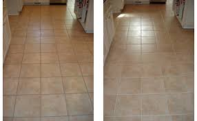 before and after grout cleaning and sealing