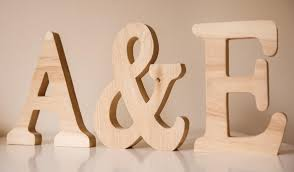 large wooden letters personalised word letter name wedding sign mr mrs oak wood anniversary valentine s wedding gift