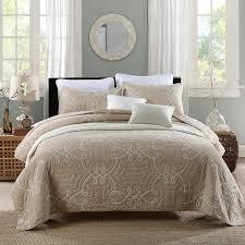 CHAUSUB Cotton Quilt Set 3Pcs Quilts Solid Color Quilted Bedspread ... & CHAUSUB Cotton Quilt Set 3Pcs Quilts Solid Color Quilted Bedspread Bed  Cover Bed Sheets Pillowcase King Adamdwight.com