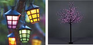 outdoor coloured lantern string lights designs