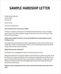 Hardship Letters Sample Template Letter Sample Sample Resume