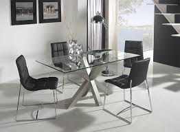 contemporary glass and white or steel paula dining table thumbnail