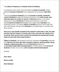 Recommendation Letter Teaching Position 6 Sample Teaching Position Recommendation Letter Free