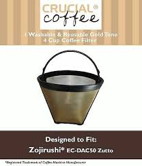 Cuisinart gold tone coffee filter medelco cone permanent coffee filter the overall sentiment towards this gold tone coffee filter is that its a huge improvement over. Replacement Zojirushi Washable Gtf4 Gold Tone Coffee Filter Part Ec Dac50 Ebay