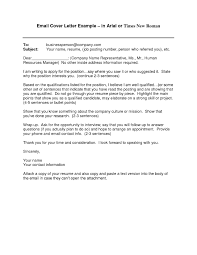 Email Cover Letter Examples For Resume Email Cover Letter Examples