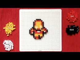 Mini Perler Bead Patterns Magnificent Perler Bead Tutorial Mini Avengers Iron Man YouTube