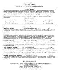 Resume Cover Letter For Field Service Technician