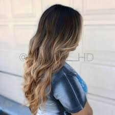 Light Caramel Ombre Hair