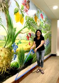 premier wall mural painting artist residing in south florida georgeta fondos experience spans thirty years of fine arts she offers professional mural  on hand painted wall murals artist with wall mural painting by georgeta fondos award winning muralist