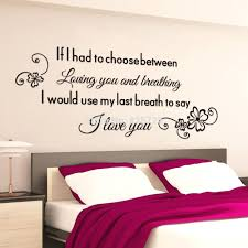 romantic bedroom wall decals. Letters For Wall Decals Romantic Bedroom Proverbs Stickers Foe 4