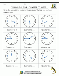 Tellingime Worksheetshe Quartero Clock Worksheet Past And Math ...