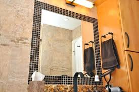 bathroom mirror frame tile. Tiled Bathroom Mirrors Awesome Mosaic Tile Around Mirror On Home Interior Redesign With . Frame