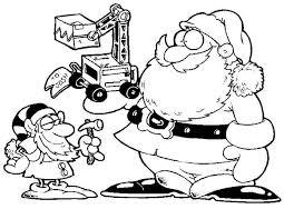 Kleurennu Kerstman Met Graafmachine Kleurplaten