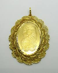 half ounce 1 2 oz gold pamp suisse medallion in 24k decorative pendant