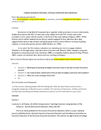 Formal Proposal Example Mesmerizing Formal Research Proposal In Detail