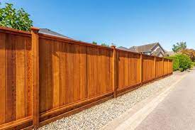 metal or wood which privacy fence