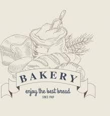Bakery Advertisement Flour Bread Ribbon Icons Classical Design Png