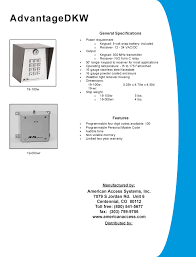aas 19 100w advantage dkw wireless digital keypad aas adv dkw brochure pdf