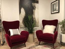 italian furniture company. Vintage Wing Back Modern Italian Sculptural Chairs Furniture Company N