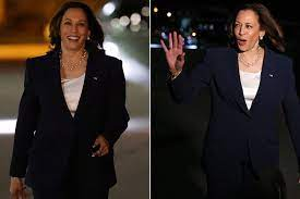 Kamala Harris laughs when asked about ...