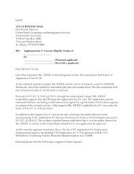 Cover Letter Design Examples U Visa Cover Letter Sample In