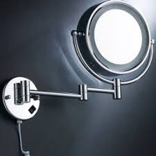 excelvan 1809d 8 5inch wall mounted makeup mirror with led light double side 5x magnification mirror